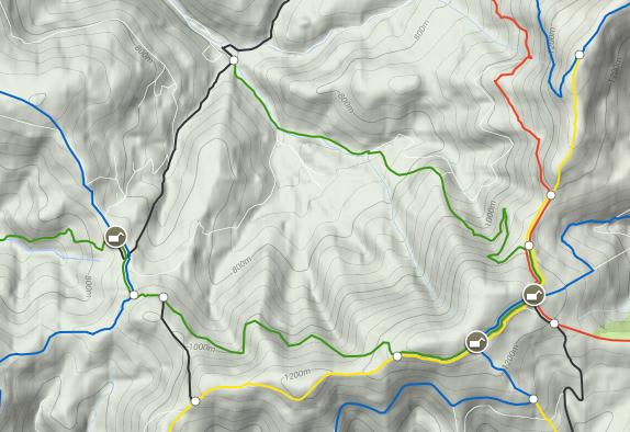 Mapa szlaku na Rysiankę