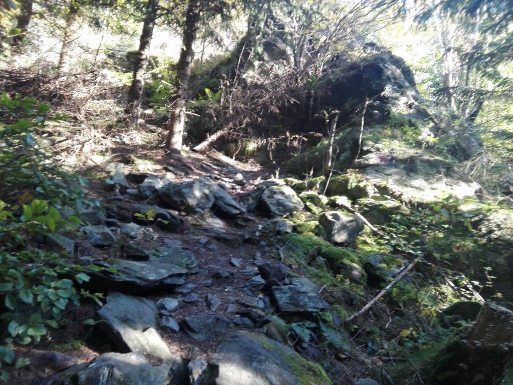 Podejście szlakiem niebieskim.